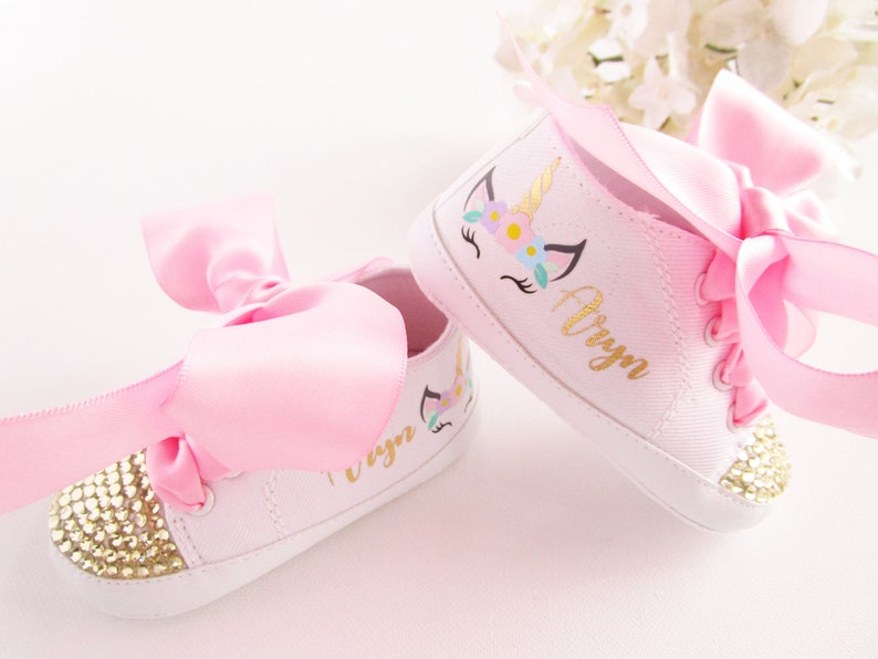d84c67253e13 Unicorn Baby Girl Shoes Baby Bling Shoes Unicorn First