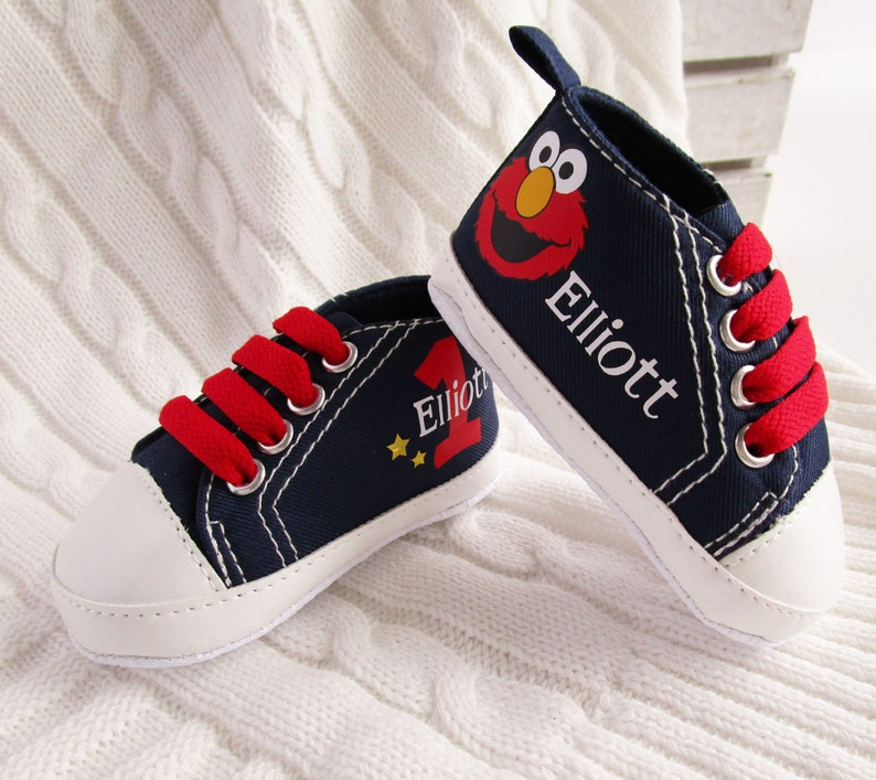 0b8d43080e3d1 Elmo Birthday Outfit / Elmo Baby Shoes / 1st Birthday Oufit Boy / Elmo Baby  Birthday Outfit / Elmo Baby Shower / Sesame Street