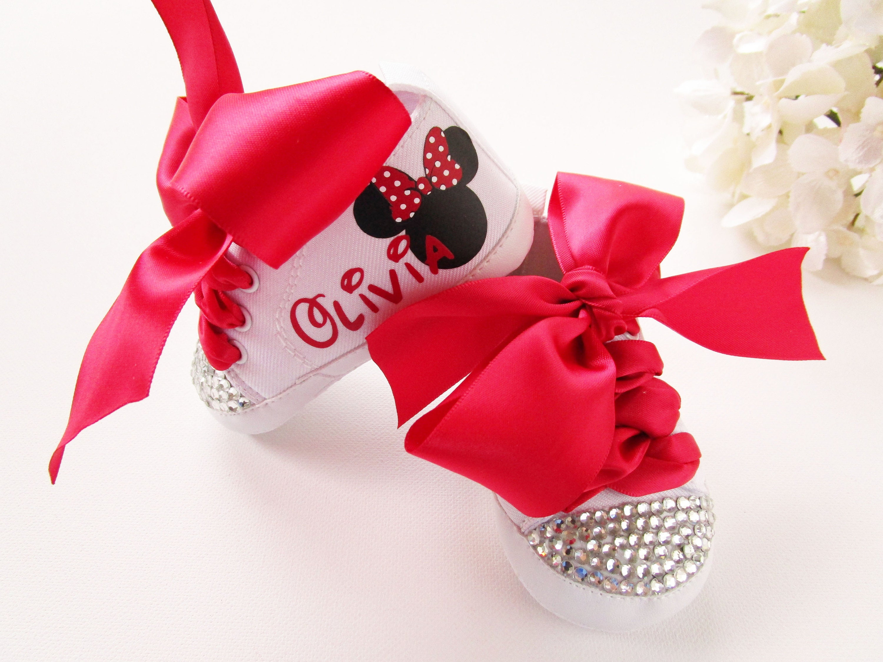 c7750624329c2 Minnie Mouse Birthday Outfit Red Baby Girl Shoes Minnie