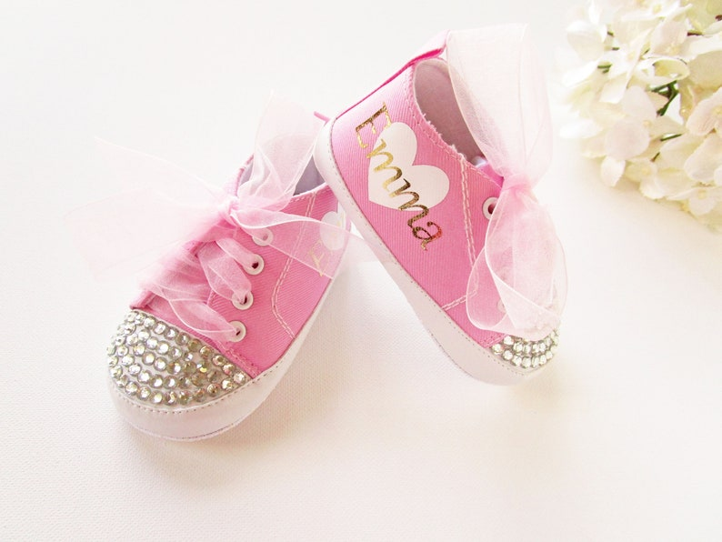 4424b23b5e55 BABY BLING SHOES   Personalized Baby Shoes   Baby Shoes for