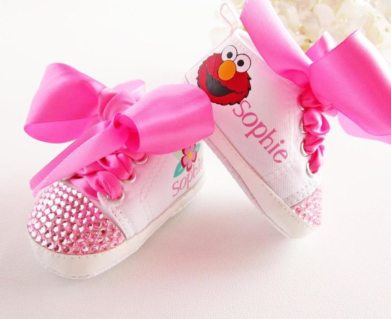 55017b964b212 Elmo Birthday Outfit / Elmo Baby Shoes / 1st Birthday Oufit Girl / Baby  Birthday Outfit / Elmo Baby Shower / Sesame Street