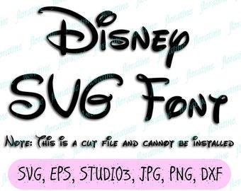 Free Disney Font SVG Disney Font SVG Cricut t Free