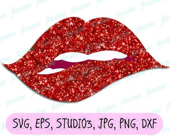 Lips Svg Biting Lips Svg File Teeth Svg Pouting Sexy Lips Svg Etsy