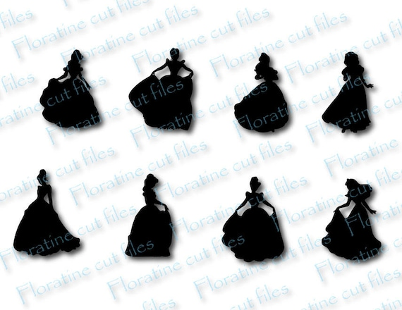 Disney Svg Bundle Silhouette Clipart Diy Instant Download Etsy