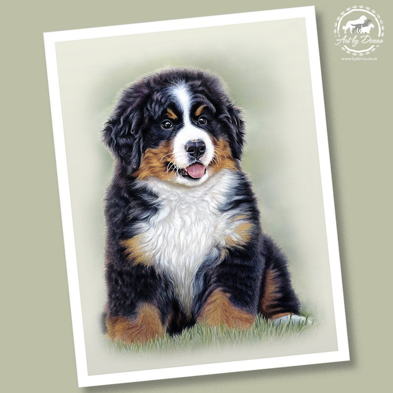Puppy Love  Bernese Mountain Dog Puppy Portrait  Limited image 0