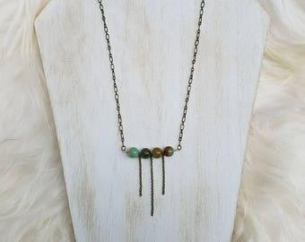 Peruvian Opal Fringe Necklace