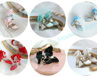 Silk High heels Shoes doll shoes for Blythe/DAL/Pullip/AzoneS/momoko/Jerryberry/licca/OB11/Middie Blythe