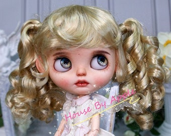 Blythe Wig Retro Princess Pigtails Imitation Mohair Wig Doll Wig 9-10inch Pullip wig lovely Style Doll Wig