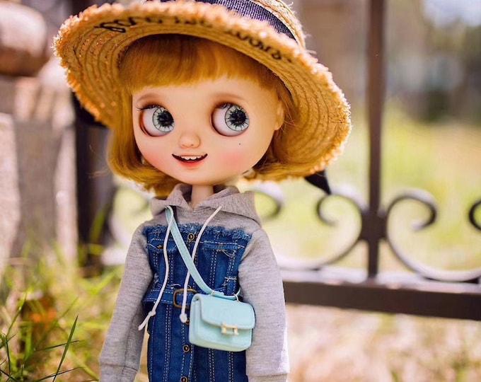 Featured listing image: Fashion Doll H band Stewardess bag Doll Handbag Handmade Doll Bag for NeoBlythe Holala 1/6 BJD Azone Doll Bag Outfit Custom Doll Accessories