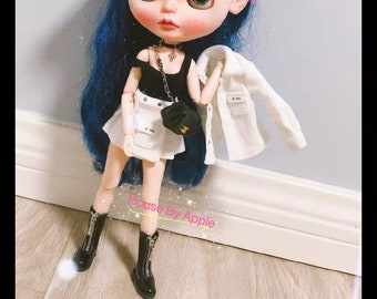Fashion moto boots Doll Shoes for Blythe/DAL/Pullip/AzoneS/OB24//licca/1:6 doll shoes