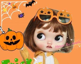Pumpkin Sunglasses Blythe Glasses Doll Miniature Cute Glasses Doll fashion for Blythe Doll Glasses 20cm Doll Glasses