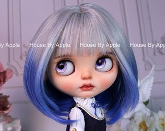 Blythe Doll Wig Gradient Colour Bob BoBo Rinka layered Hair Wig Doll Wig 9-10inch Pullip wig lovely Style