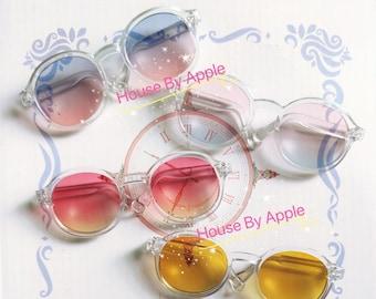 Round Gradient plastic frame Glasses Blythe Glasses Doll Miniature Cute Glasses Doll fashion for Blythe Doll Glasses