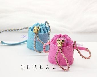 Fashion Doll Mini Bucket bag Doll Handbag Handmade Doll Bag for Neo Blythe Holala 1/6 BJD Azone Doll Bag Outfit Custom Doll Accessories
