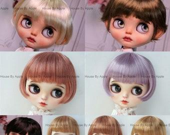 Blythe Wig Cute Short Bob Wig School Girl Doll Wig 9-10inch wig lovely Style Doll Wig 8 colour