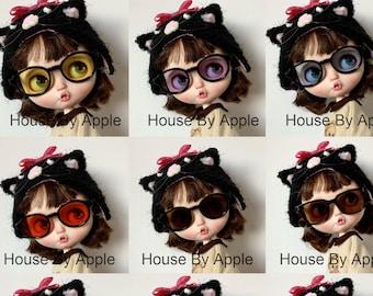 Round Sunglasses Square Sunglasses Blythe Glasses Doll Miniature Cute Glasses Doll fashion for Blythe Doll Glasses 20cm Doll Glasses