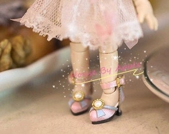 Silk Antique high heels for OB11/P9/GSC