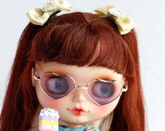Fashion casual style Blythe American Girl Heart Glasses!! Doll Miniature/Cute Glasses/Round Glasses/Doll fashion for Blythe 8 colours