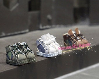 Camouflage high top sneakers Doll ShoesOB11/MiddieBlythe/GSC