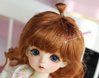 BJD Cute Carrot naturally curly hair imitation Mohair wig for  1/3 SD 1/4 msd 1/6 yosd Wig