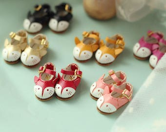 12 colour Cute Fox shoes for  Blythe/DAL/Azone/momoko/Jerryberry/Pukifee/Licca/Fashion Royalty Doll