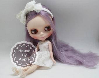 Beautiful Lovely Light Purple Hair Blythe Nude Doll /Blythe factory/blythe joint body/blythe full body