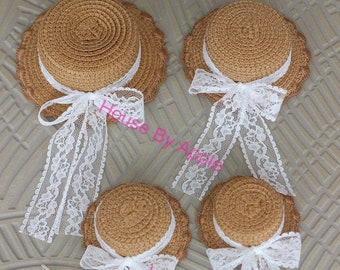 Small Flower Edge Straw Hat for licca Middie Blythe Lati Yellow Jerry Berry 1/8 1/6 1/4 doll
