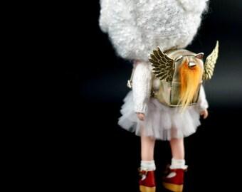 Sparkling brilliance Unicorn Backpack for Blythe/DAL/Pullip/Azone/momoko/Jerryberry/licca/Lati Yellow/FashionRoyalty/YOSD/1:6 doll