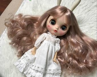 Classical Lovely Two Tone Pale Gold Hair Blythe Nude Doll /Blythe factory/blythe joint body/blythe full body/Custom Use