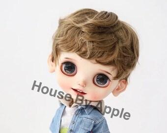 Blythe Doll Wig Short Hair Imitation Mohair Wig Doll Wig 9-10inch Pullip wig Boyish Boy