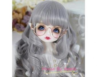 Custom Made BJD Long Big Curly hair high temperature heat resistant fiber wig for 1/3 SD 1/4 msd 1/6 yosd doll wig