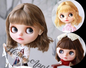 Blythe Doll Wig Short Hair Imitation Mohair Wig Doll Wig 9-10inch Pullip wig lovely Style