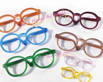 Round Matte Jelly plastic frame Glasses Blythe Glasses Doll Miniature Cute Glasses Doll fashion for Blythe Doll Glasses