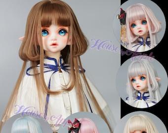 "BJD Wig 6 colors Jellyfish Long hair for 1/3 SD 1/4 MSD 1/6 yosd 9-10"" Blythe Wig doll wig"