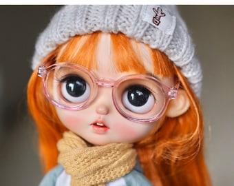 New Colour!! Round plastic frame Glasses Blythe Glasses Doll Miniature Cute Glasses Doll fashion for Blythe Doll Glasses
