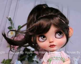 Blythe Wig Wavy ponytail Imitation Mohair Wig Doll Wig 9-10inch Pullip wig lovely Style Doll Wig