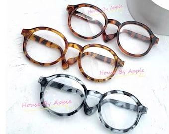 Round Tortoiseshell plastic frame Glasses Blythe Glasses Doll Miniature Cute Glasses Doll fashion for Blythe Doll Glasses