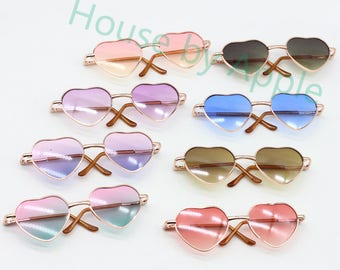 93d31a5c84 Fashion casual style Blythe American Girl Heart Glasses!Doll Miniature Cute  Glasses Round Glasses Doll fashion for Blythe 8 colours