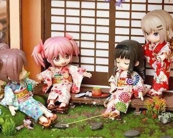 Obitsu11 Clothes Kimono Yukata Geta OB11 dolls clothes