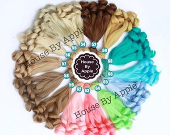 Doll Hair Spiral Curls wefts for BJD/SD/Yosd/Barbie/Monster high/Blythe/1:6/LatiYellow doll making custom doll wig custom dolls DIY doll wig