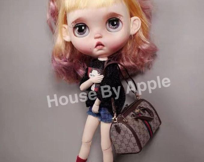 Featured listing image: Fashion Doll shoulder Bag Doll Handbag Handmade Doll Bag for Neo Blythe Holala 1/6 BJD Azone Doll Bag Outfit Custom Doll Accessories