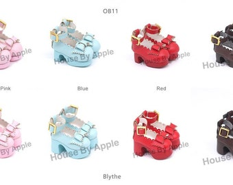 Lolita High heels doll shoes for Blythe/DAL/Pullip/AzoneS/momoko/Jerryberry/licca/OB24/Pukifee/AYYA/AHHA/Lati Yellow/OB11/Middie Blythe