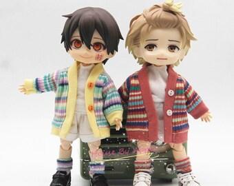 Obitsu11 Clothes 4pcs Jacket Pants Shirt Sock set OB11 Molly P9 GSC 1/12 bjd dolls clothes 4 colors