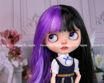 Blythe Wig Ins Half Colour Long Small Curly hair cute Wig Doll Wig 9-10inch Pullip wig Fashion Style Blythe Doll Blythe Hair