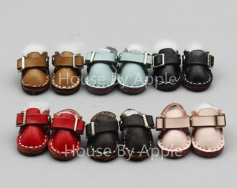 Leather Monk Straps Monk Shoes Doll shoes for OB11/Middie Blythe/ 1:12 doll