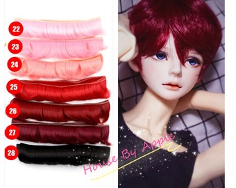 Doll Hair Curly Bangs wefts for BJD/SD/Yosd/Barbie/Monster high/Blythe/1:6/Lati Yellow doll making custom doll wig custom dolls DIY doll wig
