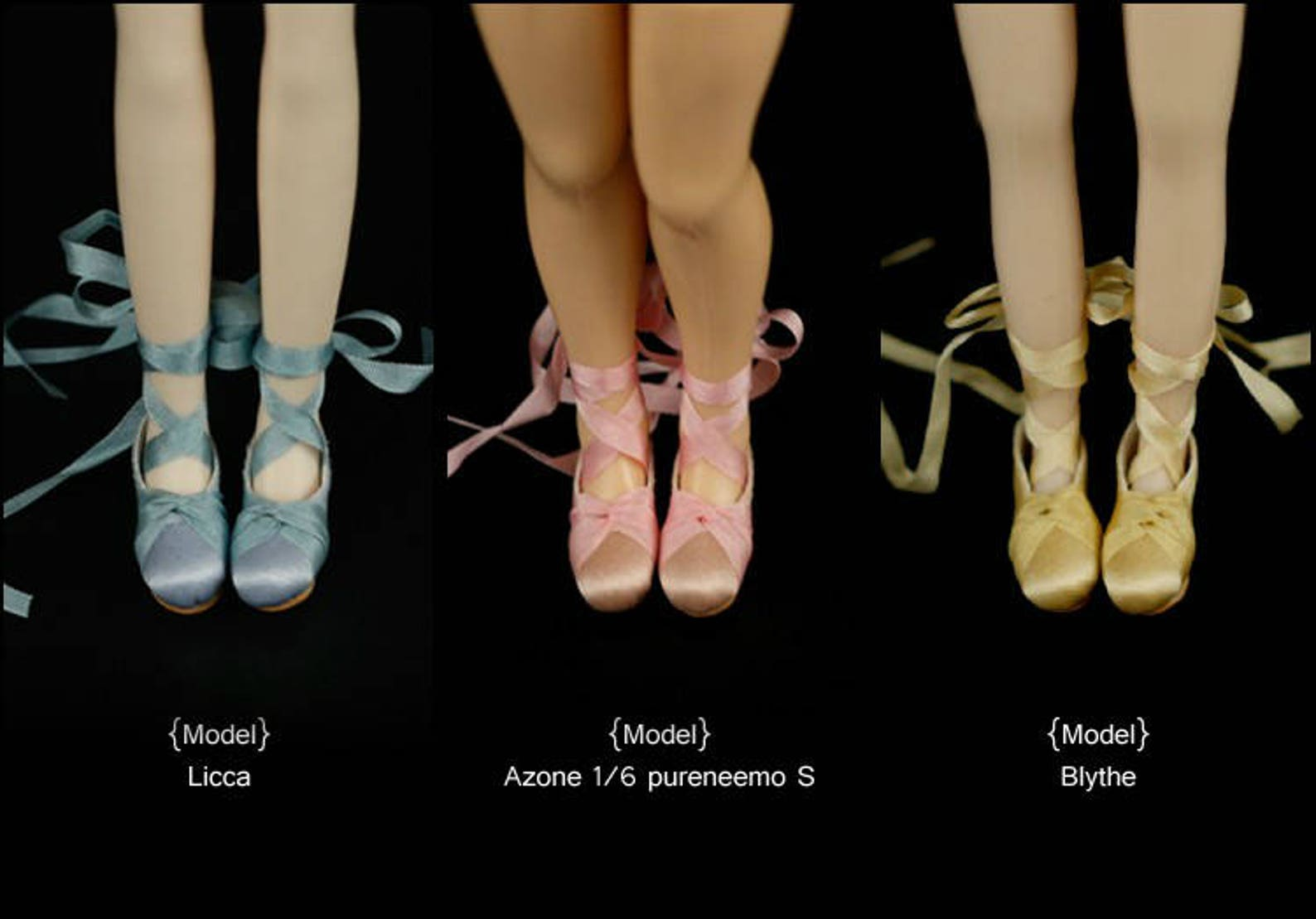 new!silk ballet slippe ballet shoes doll shoes for blythe/dal/pullip/azones/momoko/jerryberry/licca/pureneemo s/1:6/ob11/middie