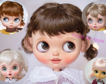 BJD Cute Blythe Wig Double Tails Hair Imitation Mohair Wig for Blythe 9-10inch Pullip wig lovely Style Doll Wig
