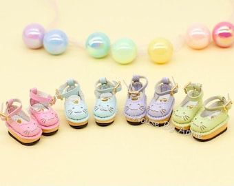 Cute Cat Sabot shoes for OB11/Middie Blythe/GSC/Piccodo 9