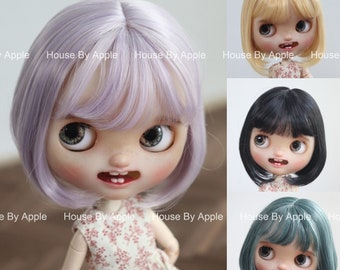 Blythe Wig Cute Bob Wig Doll Wig 9-10inch wig lovely Style Doll Wig 6 colour